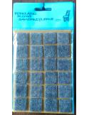 Siwe podkładki filcowe pod meble z kodem kreskowym